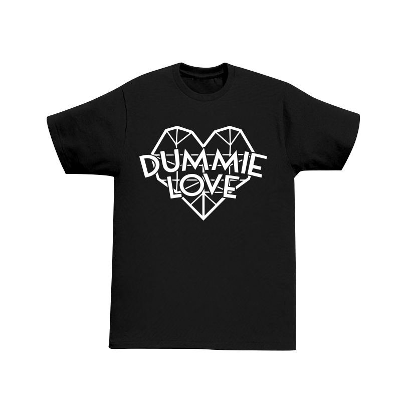 Image of Dummie Love Diamond Heart Black Tee