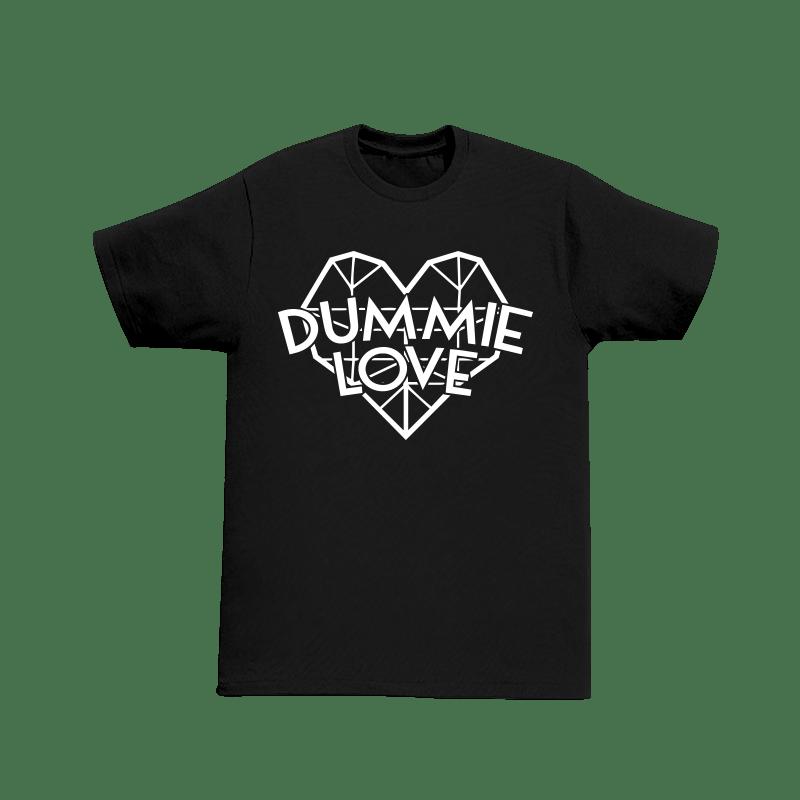 Image of Dummie Love Diamond Heart Black Tee