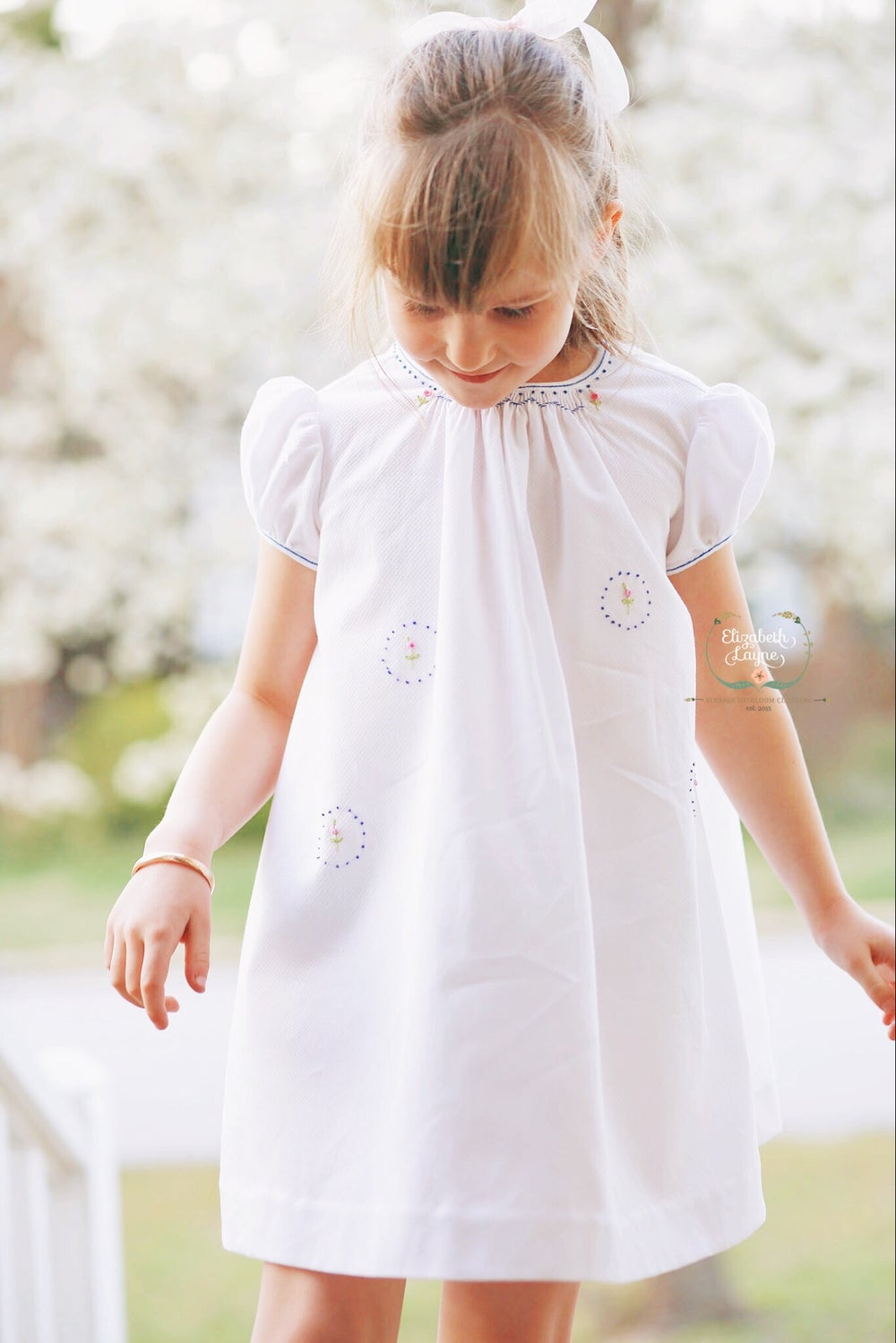 Image of Ellie Hand Smocked Honeycomb Dress