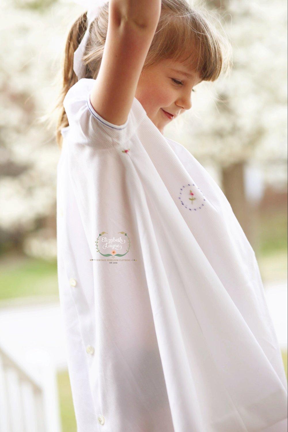 Image of Ellie Hand Smocked Honeycomb Dress