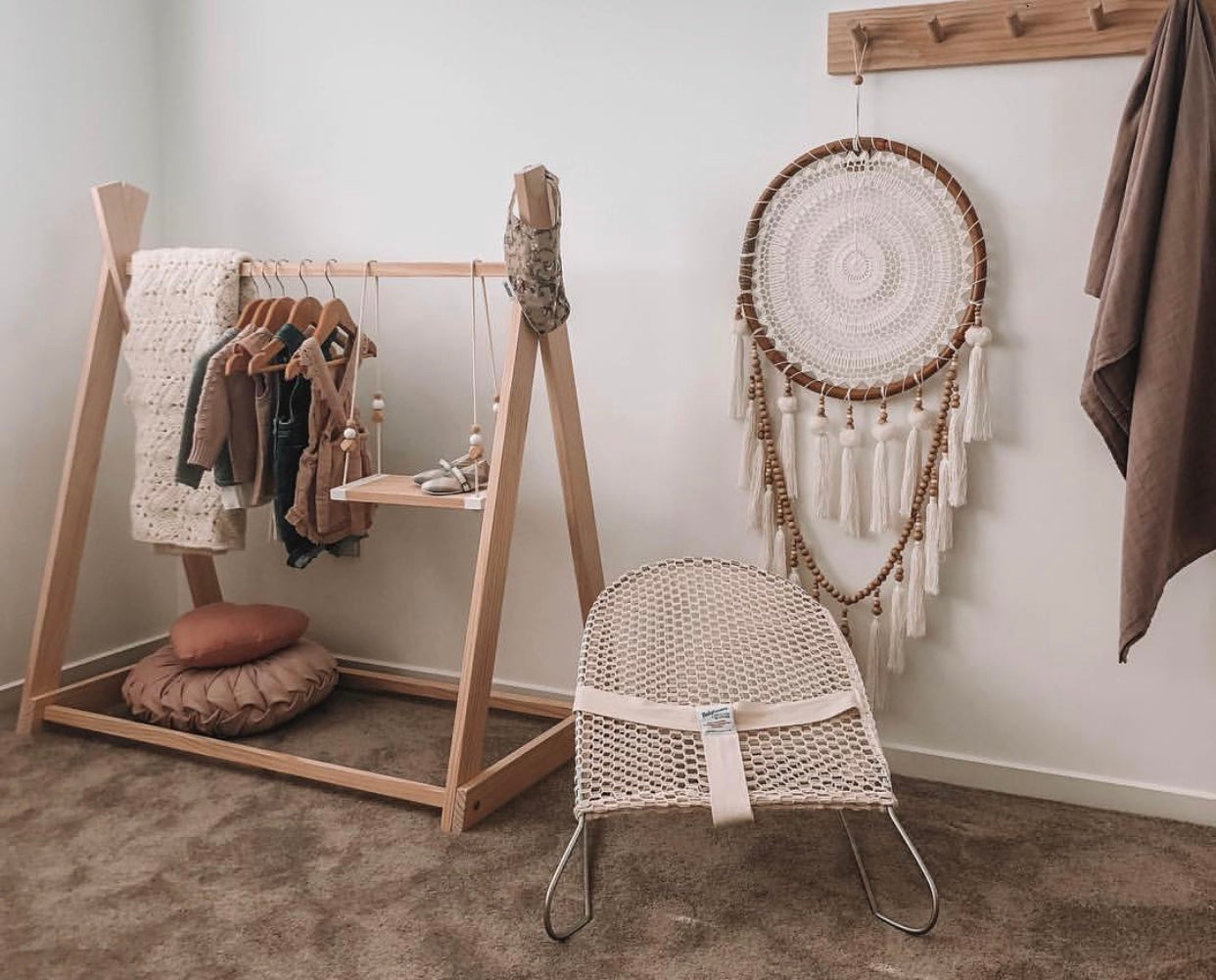 Wooden Kids Clothing Rack