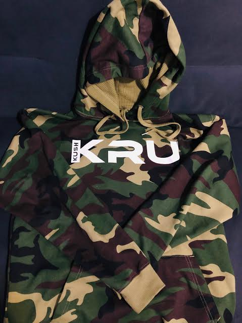 Image of (CAMO) Kush Kru Hooded Sweatshirt
