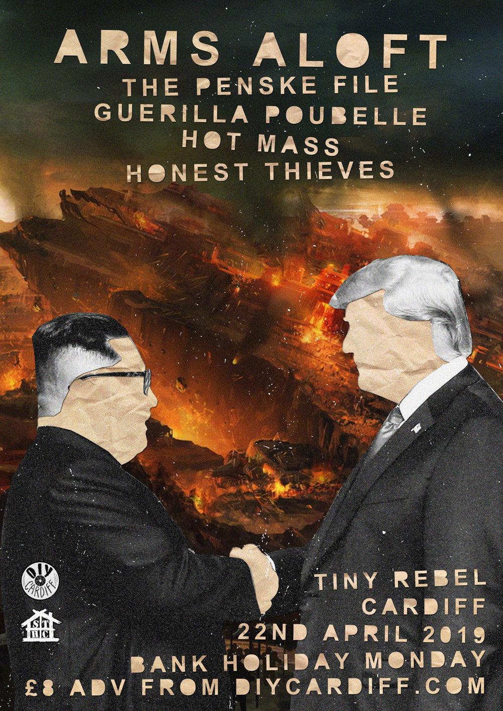 Image of Arms Aloft, The Penske File, Guerilla Poubelle, Hot Mass, Honest Thieves @ Tiny Rebel