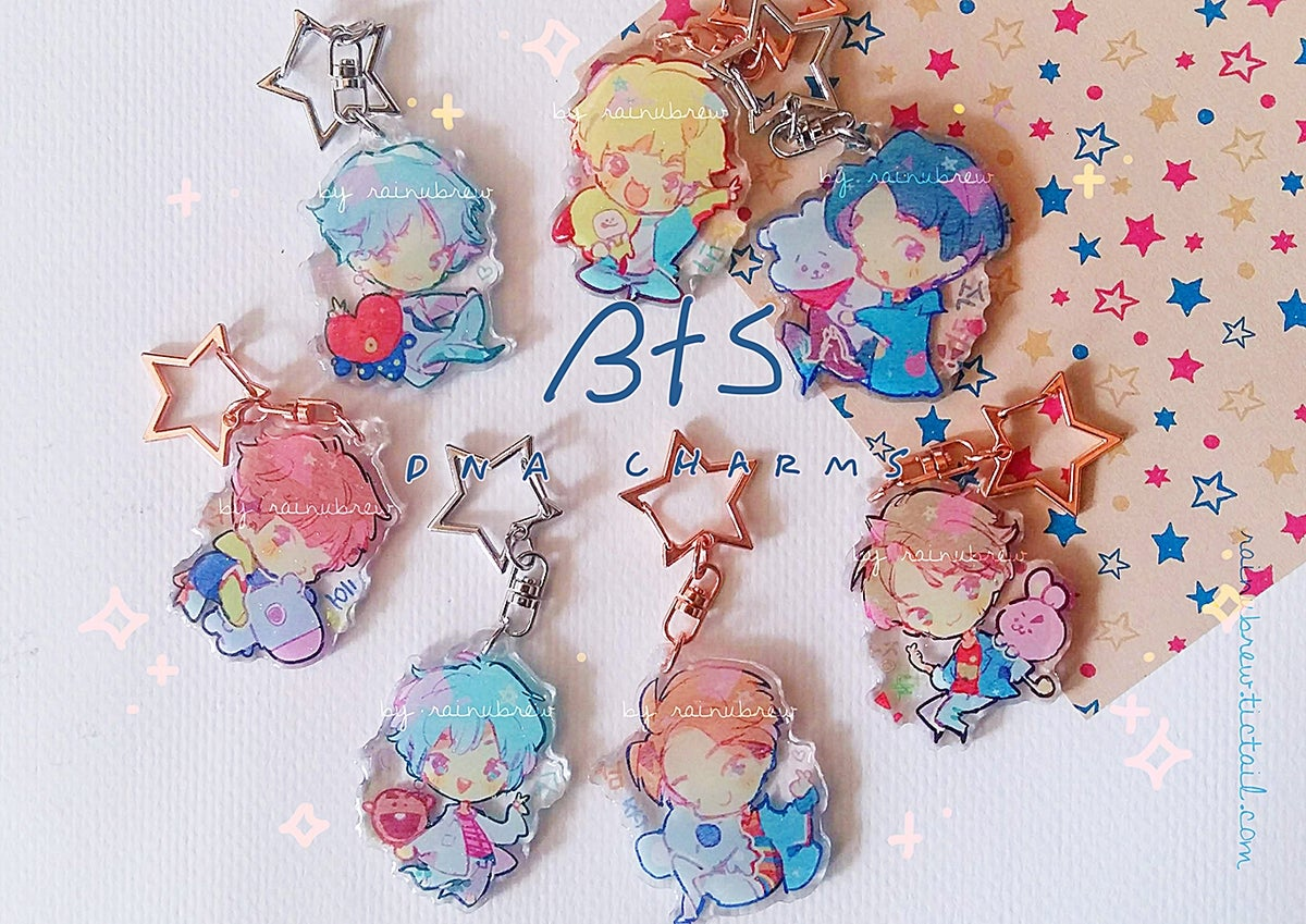 Image of BTS and Twice | 2 inch charms