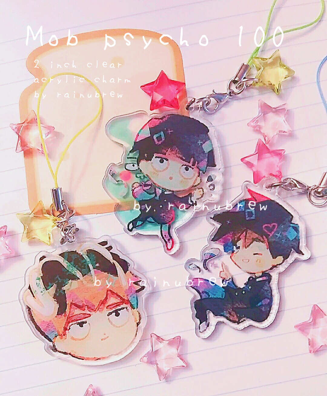 Image of mob psycho 100 | 2 inch charms
