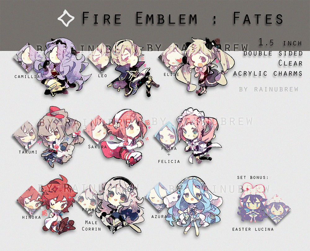 Image of fire emblem fates | 2 inch charms