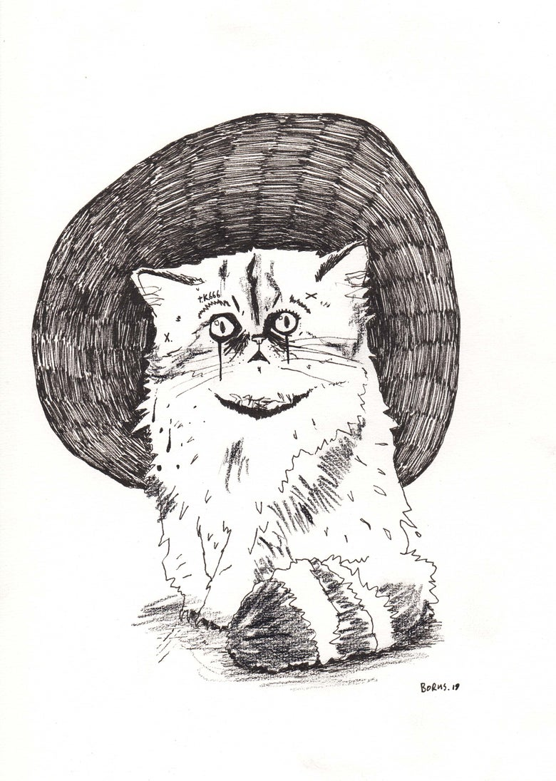 Image of Terror Kitten 666 - original drawing