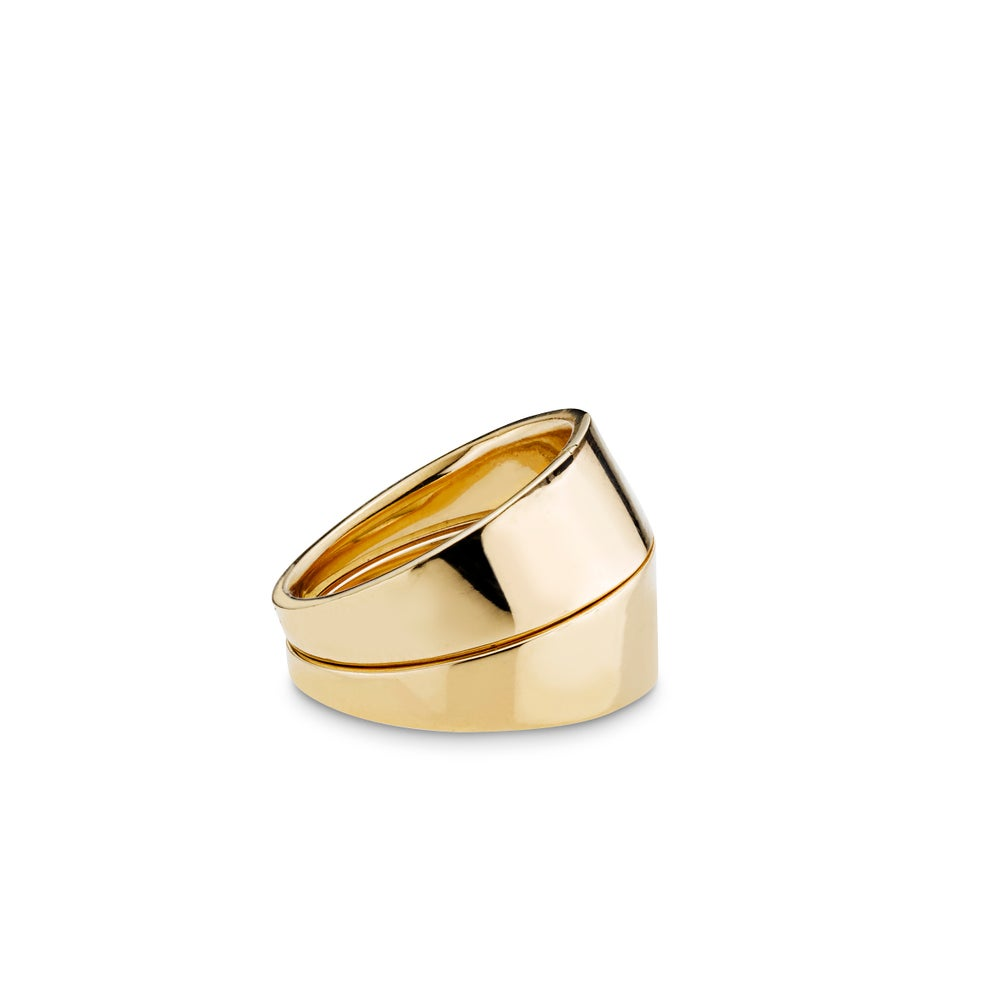 Image of La Paire Rings, 18K yellow gold