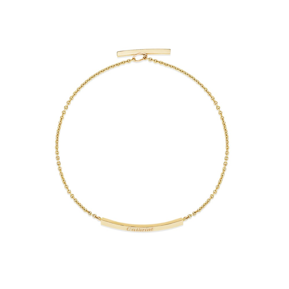 Image of Flow Chain Bracelet, 18K yellow gold