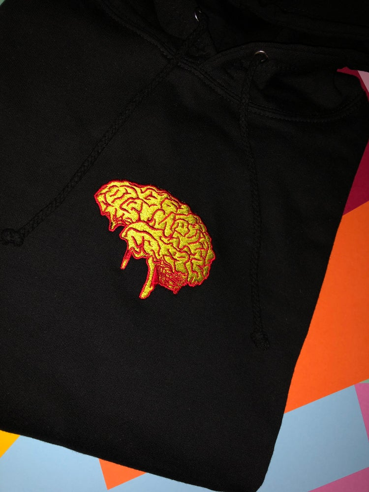 Image of Dirtbrain embroidered Hoodie in black
