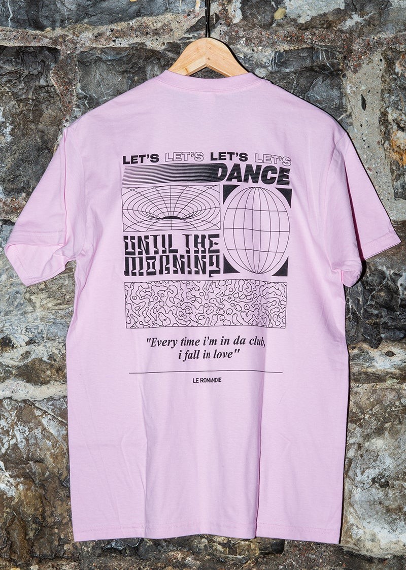 """Image of T-shirt """"Until the Morning"""" // PINK"""