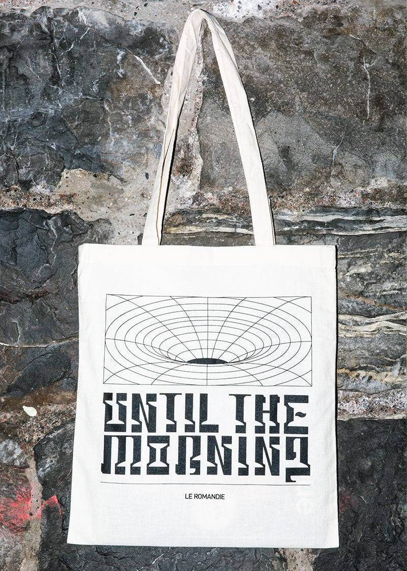 """Image of Tote bag """"Until the Morning"""" // WHITE"""