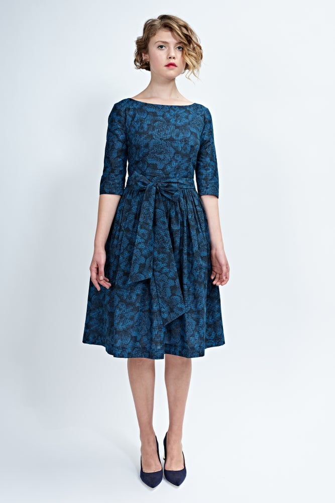 Image of Rebecca dress blue