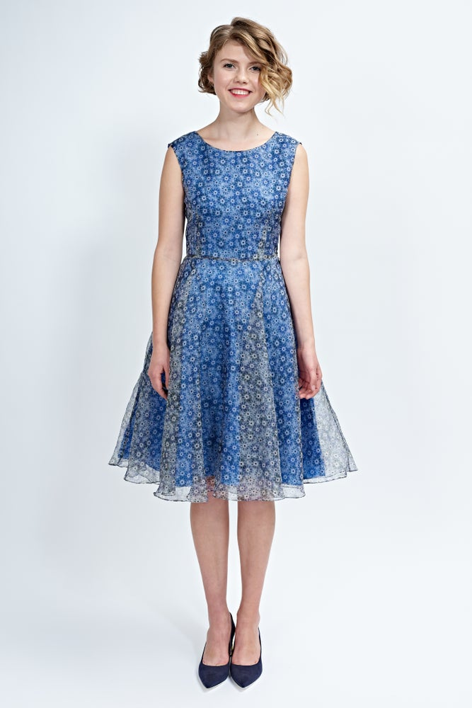 Image of Daisy dress in blue