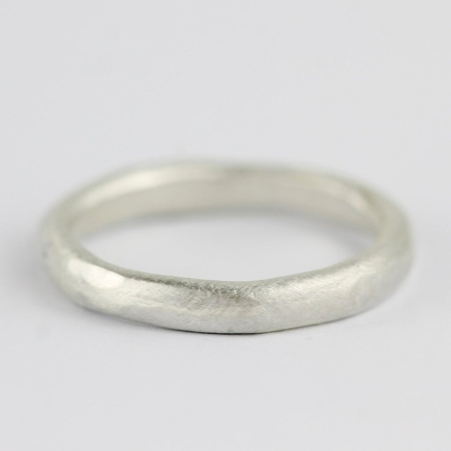 Image of Brushed silver ring.