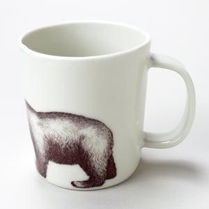 Image of 16oz mug with polar bear, ivory