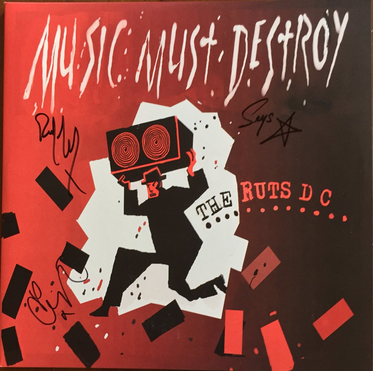 Image of Music Must Destroy Signed Vinyl