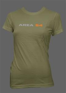 Image of Area54 Ladies Tee - Military Green