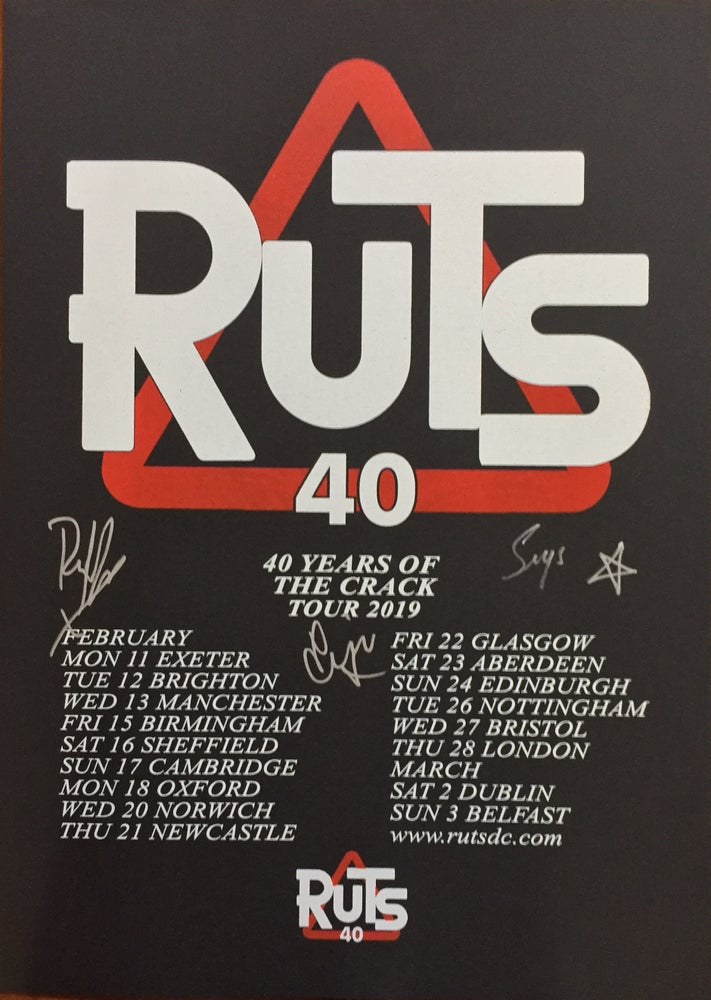Image of 40 Anniversary 'Crack' Tour print Signed