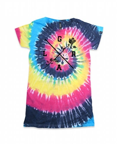 Image of Women's Rose Tie Dye Tee