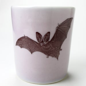 Image of 16oz tumbler with bat, lilac