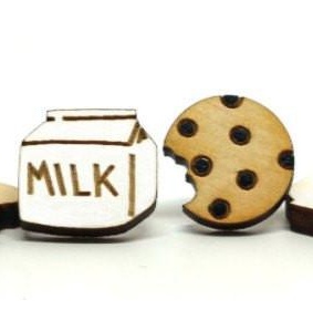 Image of Milk and Cookie Earrings