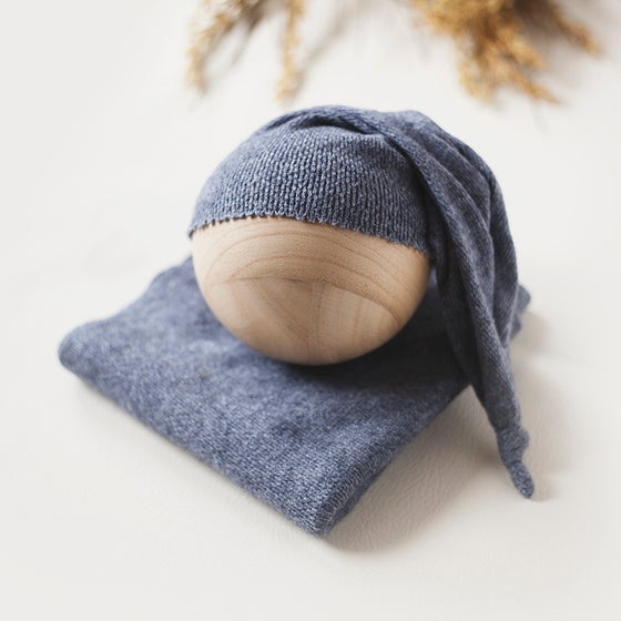 Image of Dusty Blue Sleepy Cap Set
