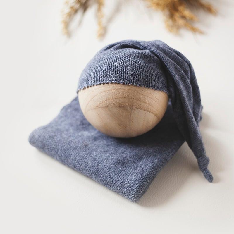Image of Dusty Blue Sleepy Cap Set