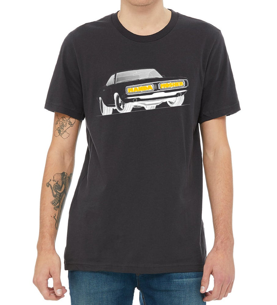 Image of Men's Manda Mosher Charger Tee in Black