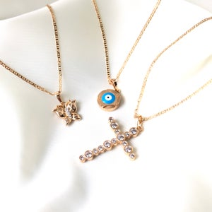 Image of Diamond Cross Necklace