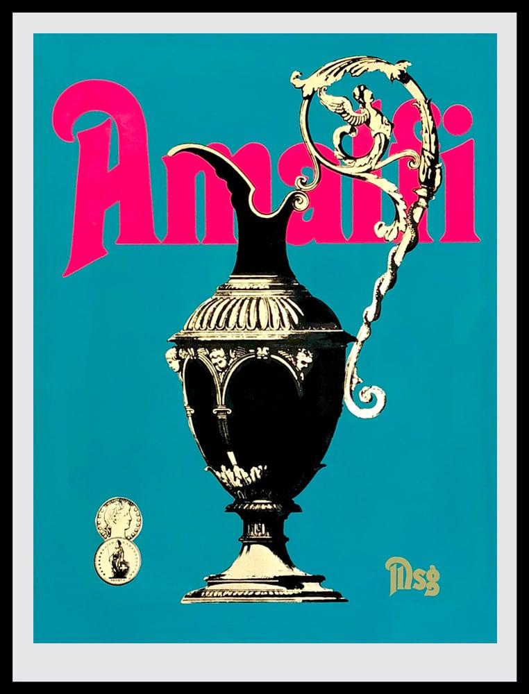 Image of Amalfi Aqua/Hot Pink/Black