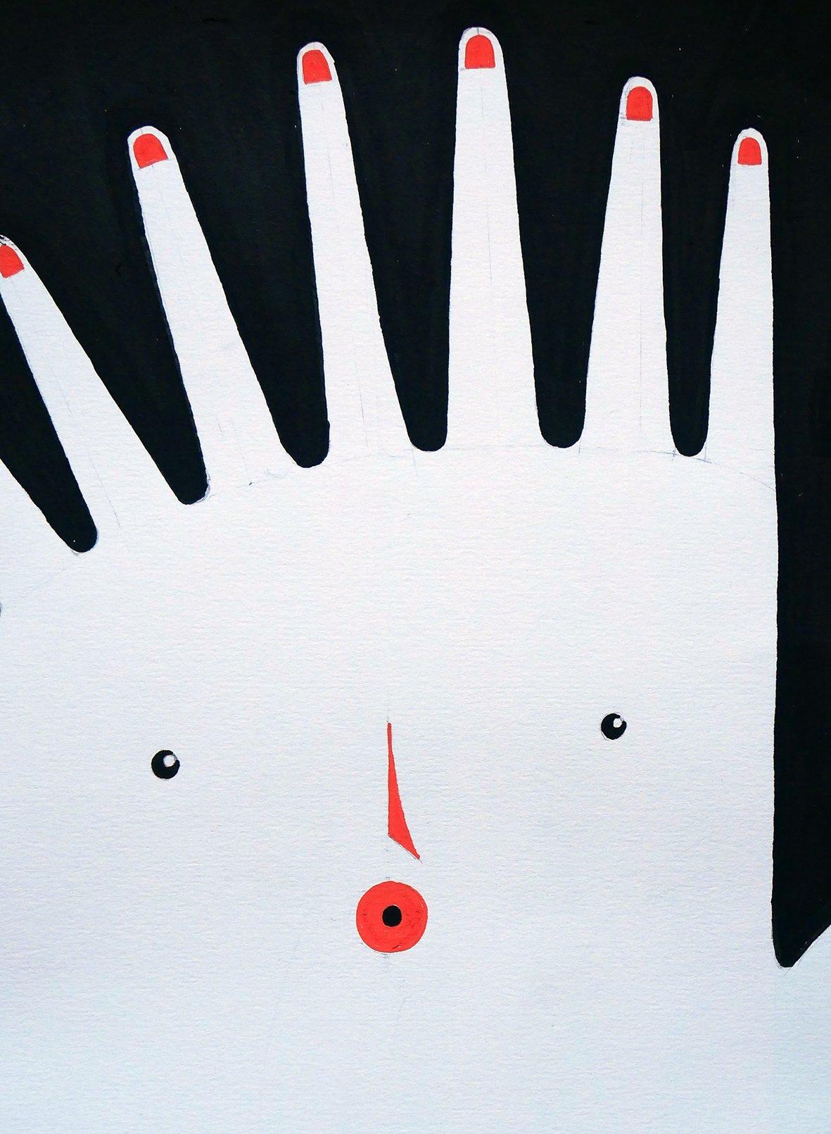 "Image of A2 ""NINE FINGERS"" Original Artwork"