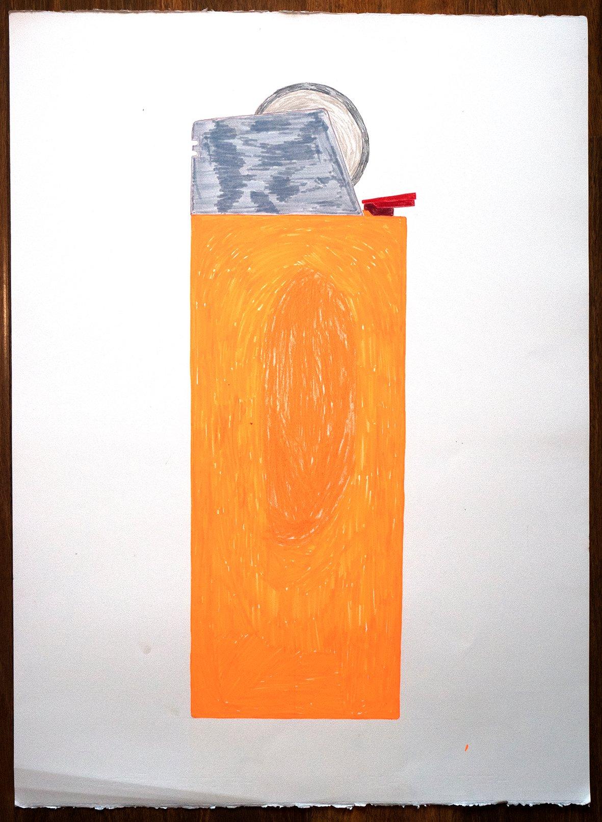 """Image of A1 """"FLURO ORANGE LIGHTER"""""""