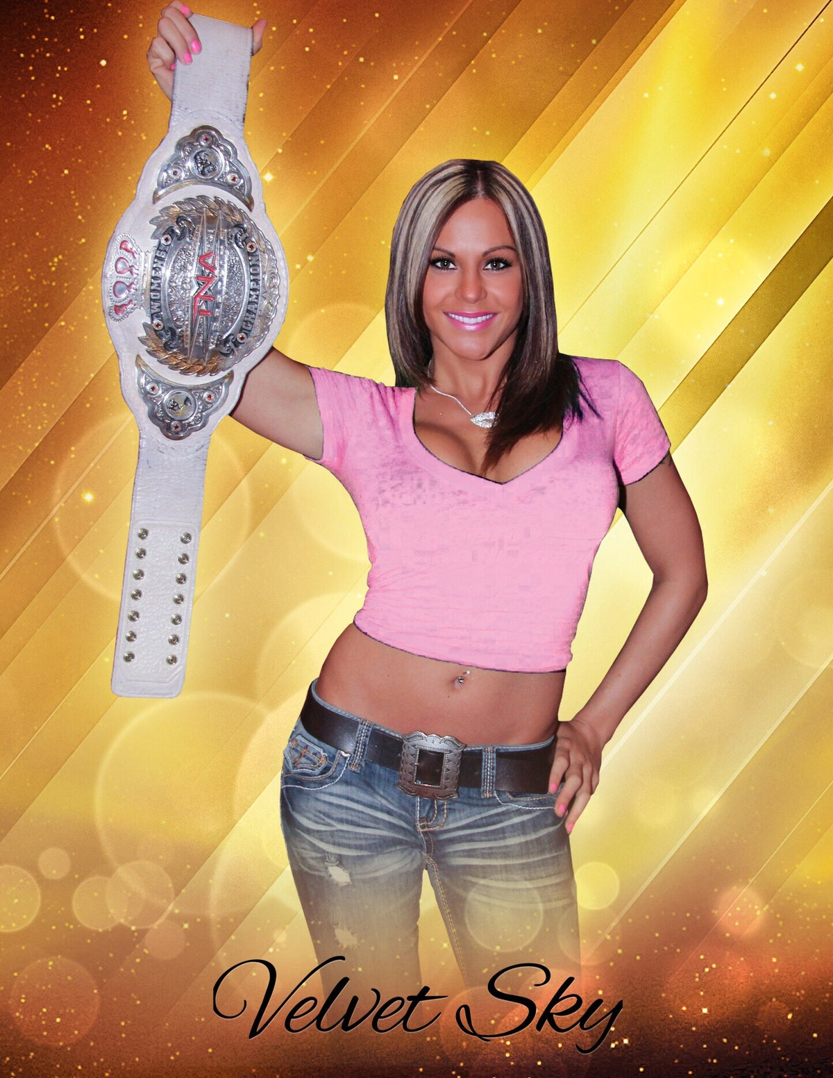 "Image of Velvet Sky ""Knockouts Champ"" Signed 8x10 Photo"