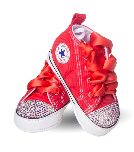 9586a040c382 Converse Junkie s Infant s Red Converse With Red Laces