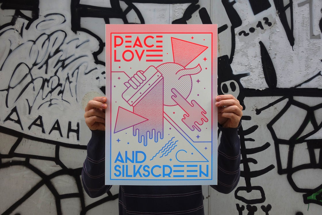 Image of Peace, Love and Silkscreen.