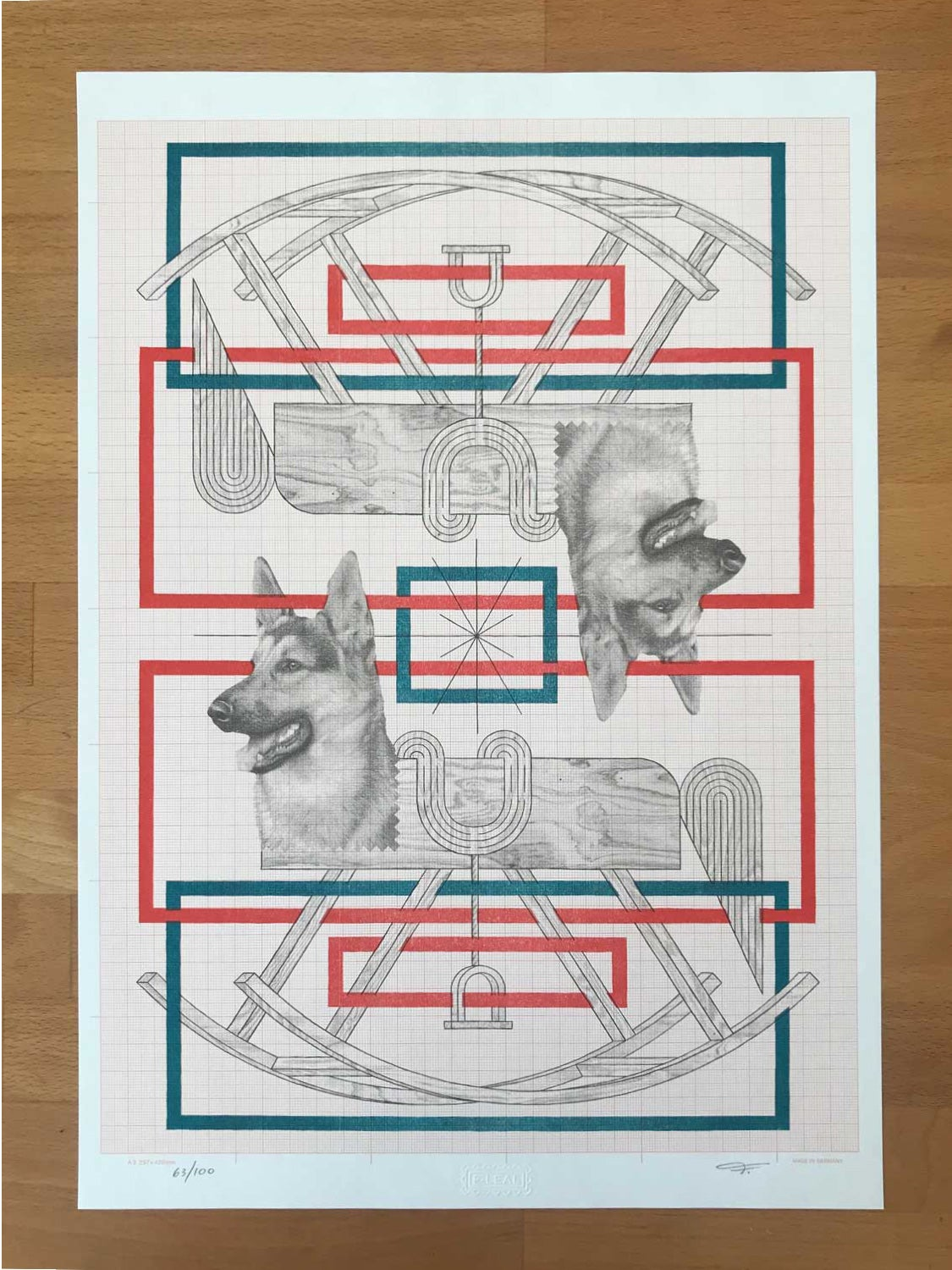 Image of Limited Edition Risograph Print (Dog)