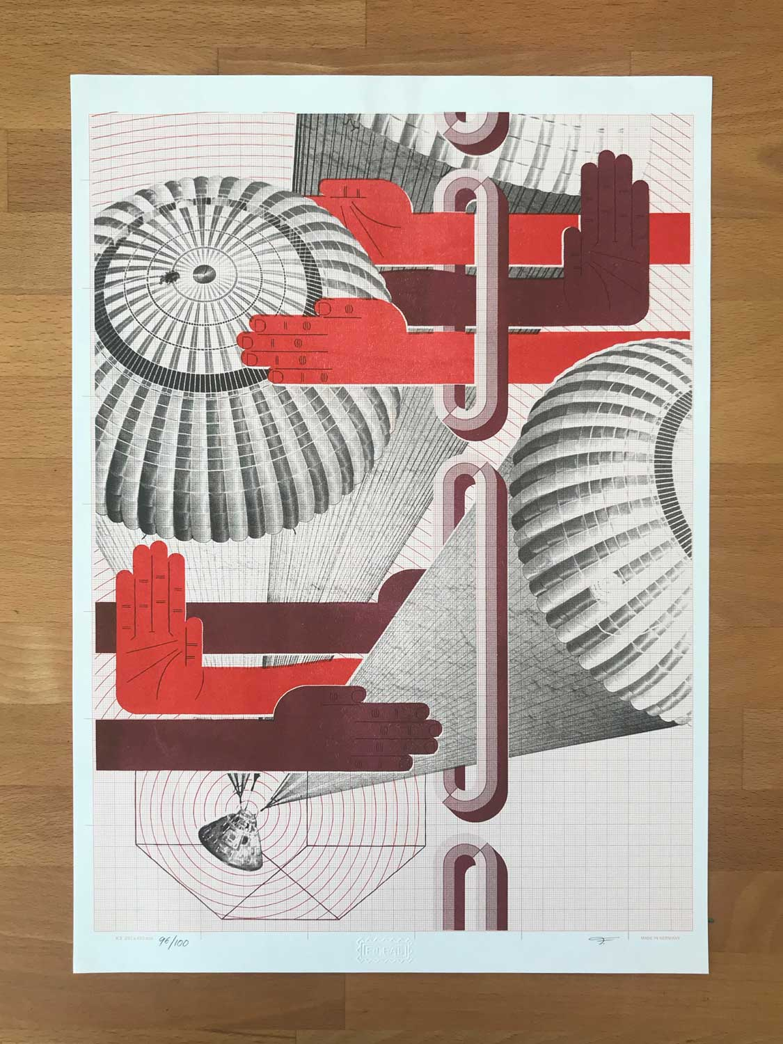 Image of Limited Edition Risograph Print (Parachute)