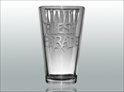 "Image of Flesh Parade ""Etched Logo"" Pint Glass"