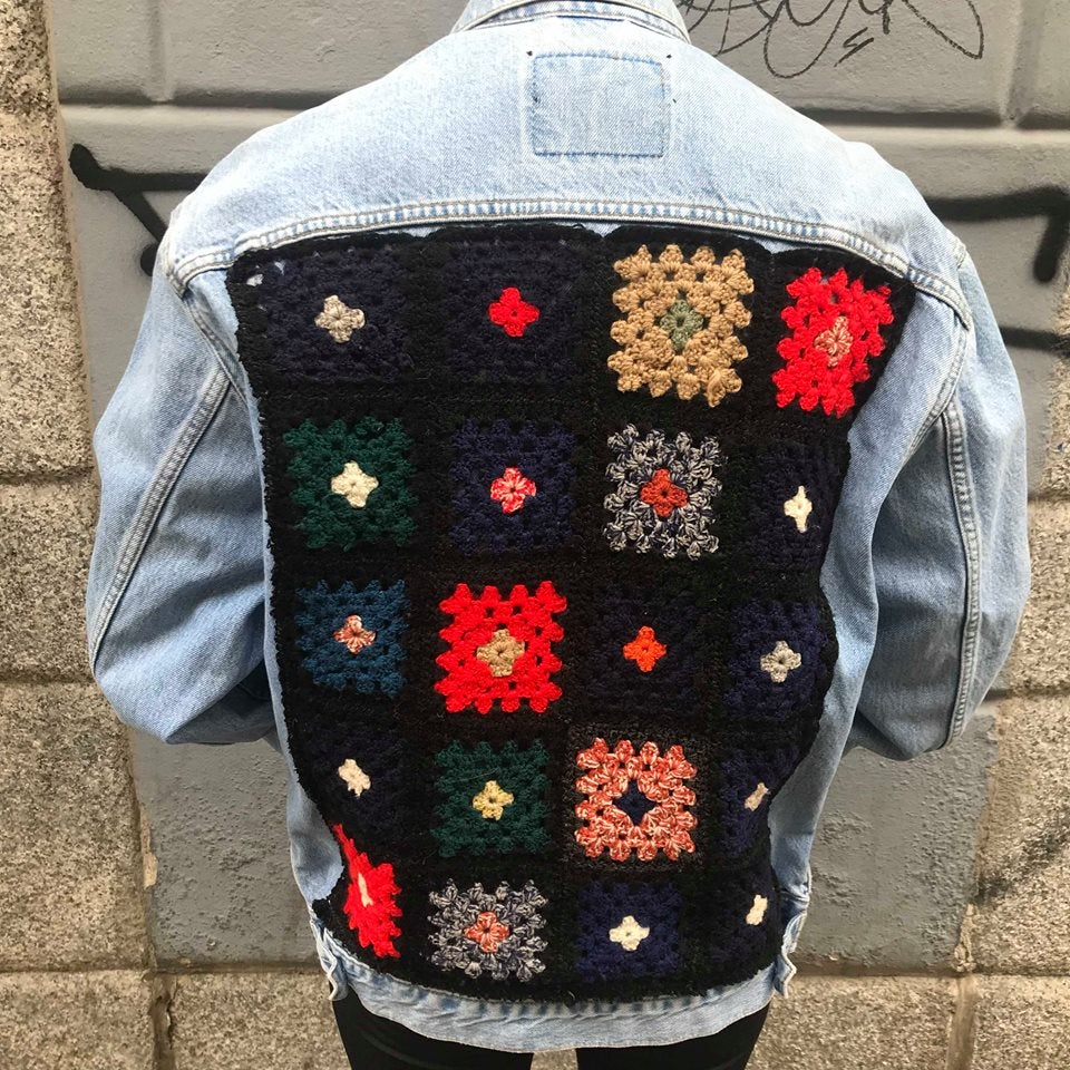 Image of THE CROCHET DENIM JACKET
