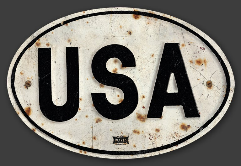 Image of Magnetic USA Badge, Standard 180x120mm