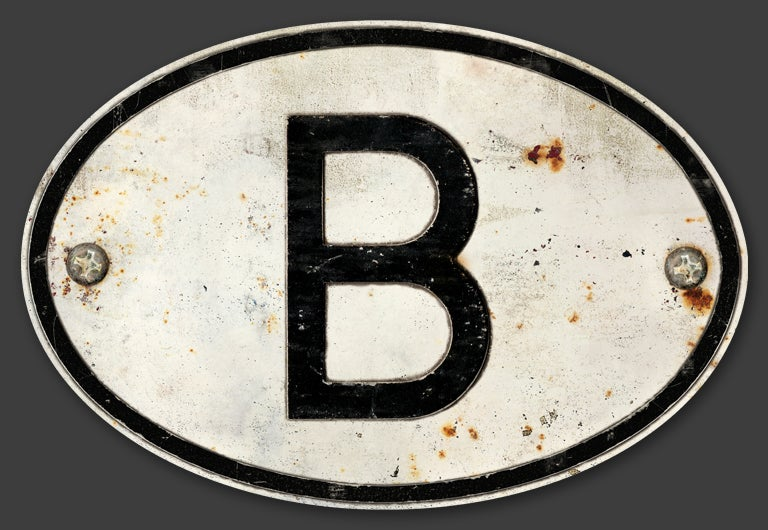 Image of Magnetic Belgium 'B' Badge, Standard 180x120mm