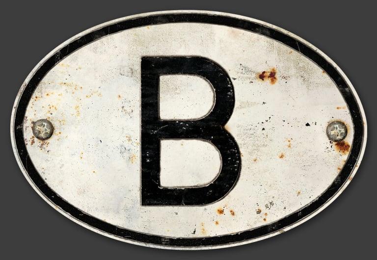 Image of Magnetic Belgium 'B' Badge, 180x120mm