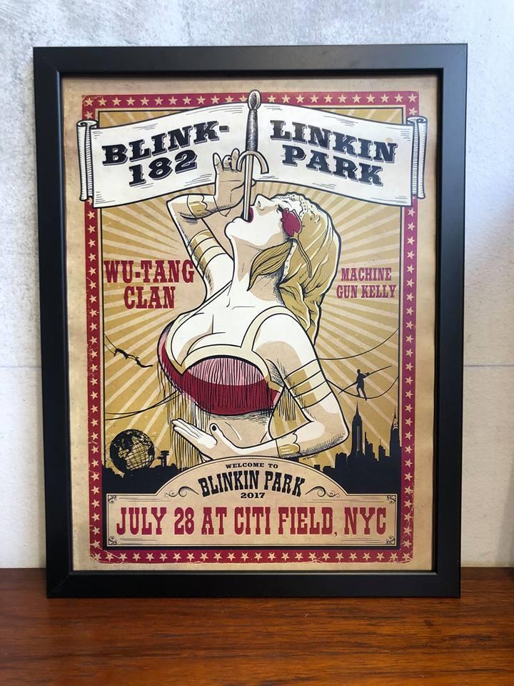 Image of Concert Poster Blink 182/Linkin Park