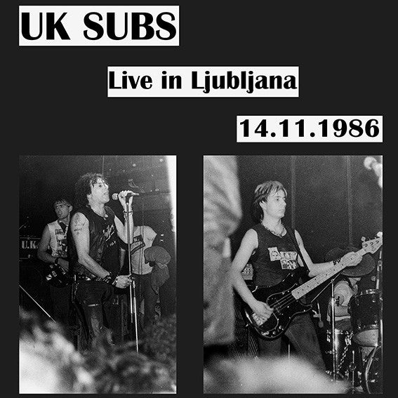 Uk Subs Quot Live In Ljubljana 14 11 1986 Quot Lp Velted