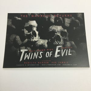 Image of Twins Movie Poster Postcard