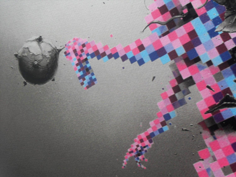 "Image of PEZ ""ALTER EGO"" 22 COLOUR SCREENPRINT - LTD ED 150 - 88CM X 64CM"