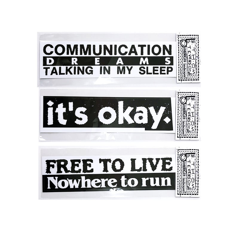 Image of commune × B.Thom Stevenson<br>PVC Bumper Sticker [B&W 01]