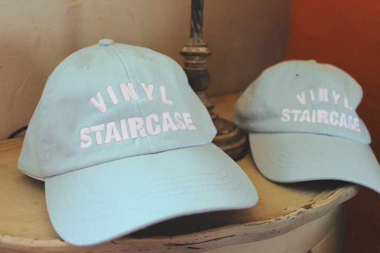 Image of Embroidered VS Caps (Pastel Blue)