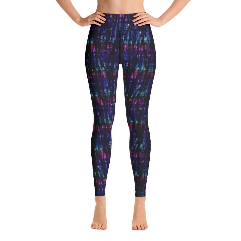 Image of Watercolor Drips Yoga Pants